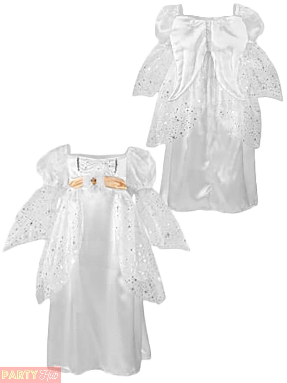 Deluxe Girls Angel Costume Travis Designs Nativity Christmas Fancy Dress Kids