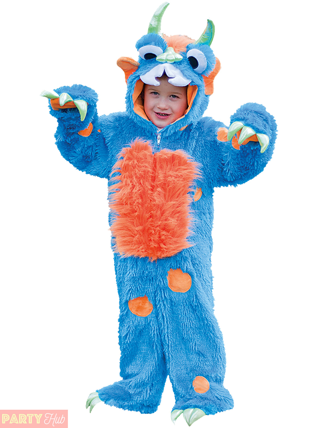 Childs-Toddlers-Blue-Monster-Plush-Fancy-Dress-Costume-Boys-Girls-Kids-Outfit