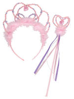 Girl's Travis Design Tiara & Wand Fairy Set