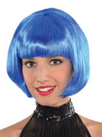 Ladies Blue Bob Wig