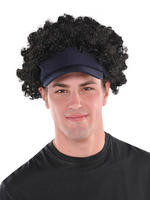 Men's Visor with Afro Wig