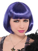 Ladies Purple Bob Wig
