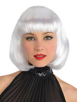 Ladies White Bob Wig
