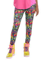 Ladies Hip Hop Graffiti Leggings