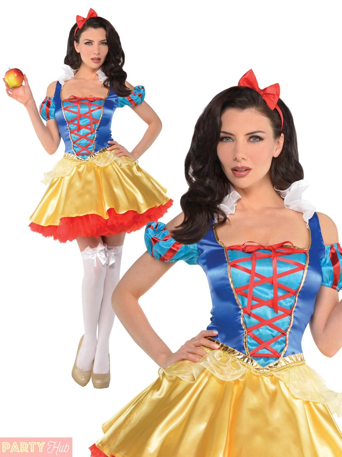 ladies snow white costume womens fairytale princess fancy