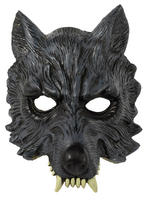 Adult's Werewolf Latex Half Mask
