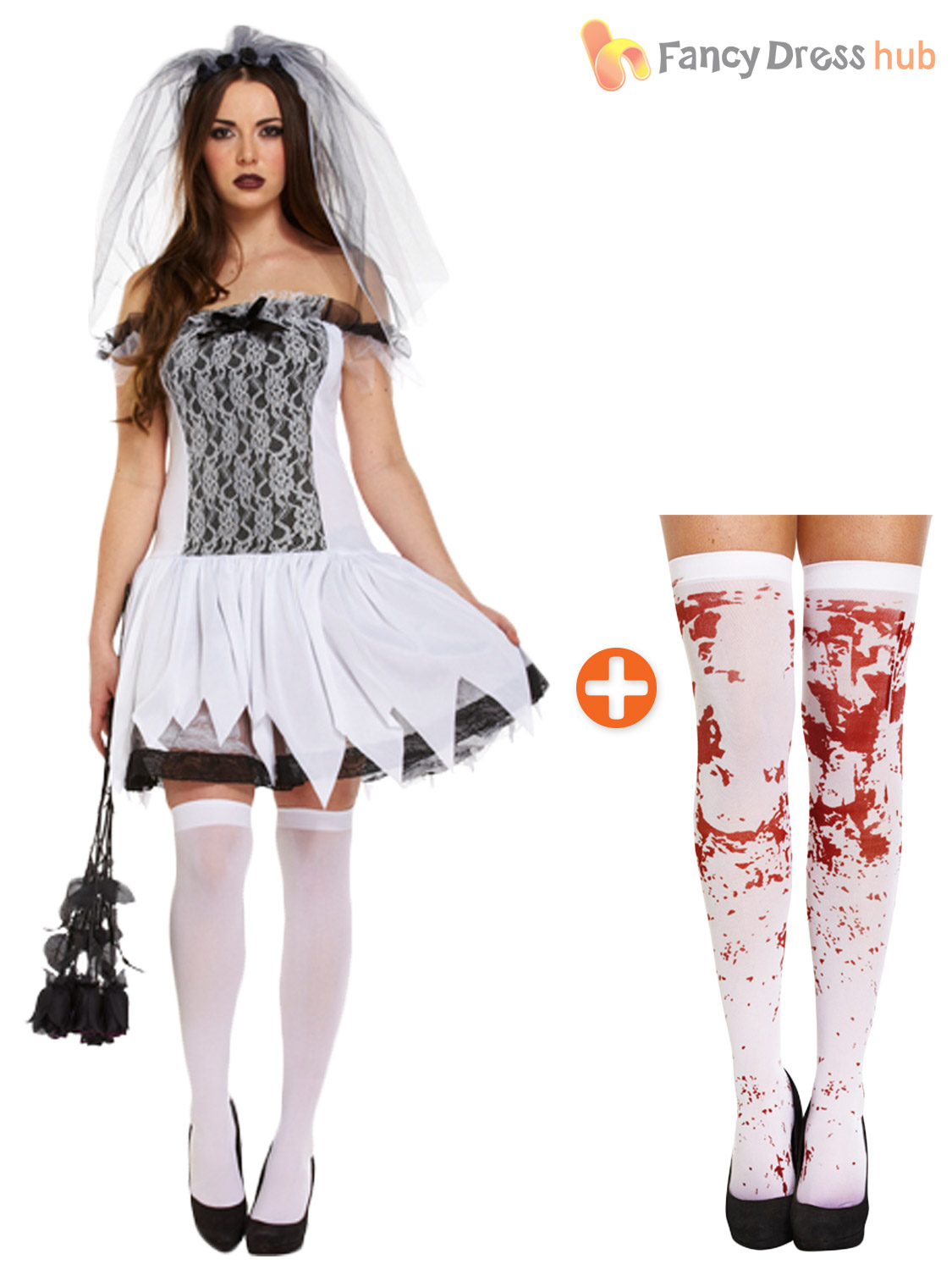 corpse bride fancy dress makeup wedding dress halloween costume Corpse Bride Fancy Dress Wedding Dresses