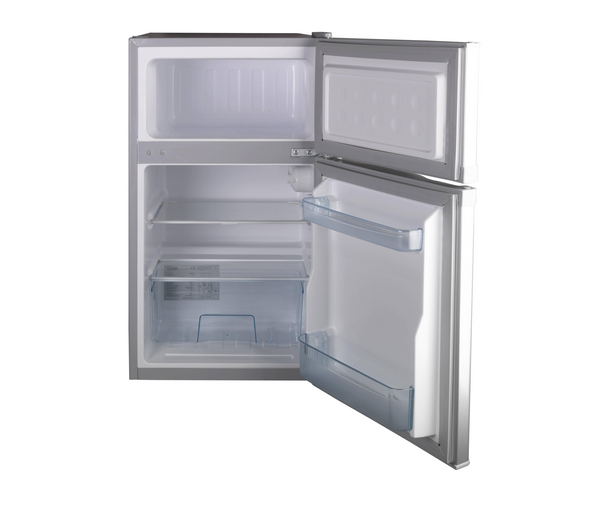 Small fridge freezer silver
