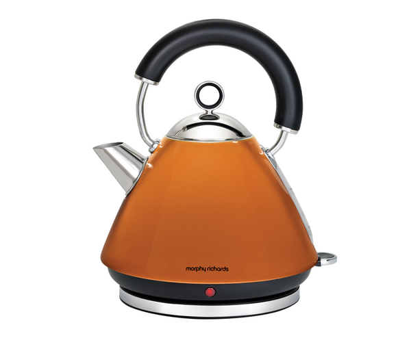 morphy richards pyramid accents cordless kettle orange. Black Bedroom Furniture Sets. Home Design Ideas
