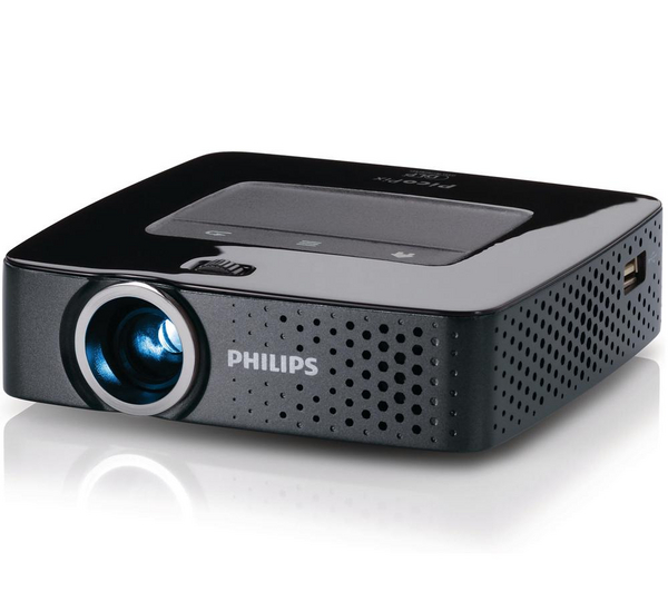 Philips picopix ppx3610 pico projector black unsealed for Laptop pico projector