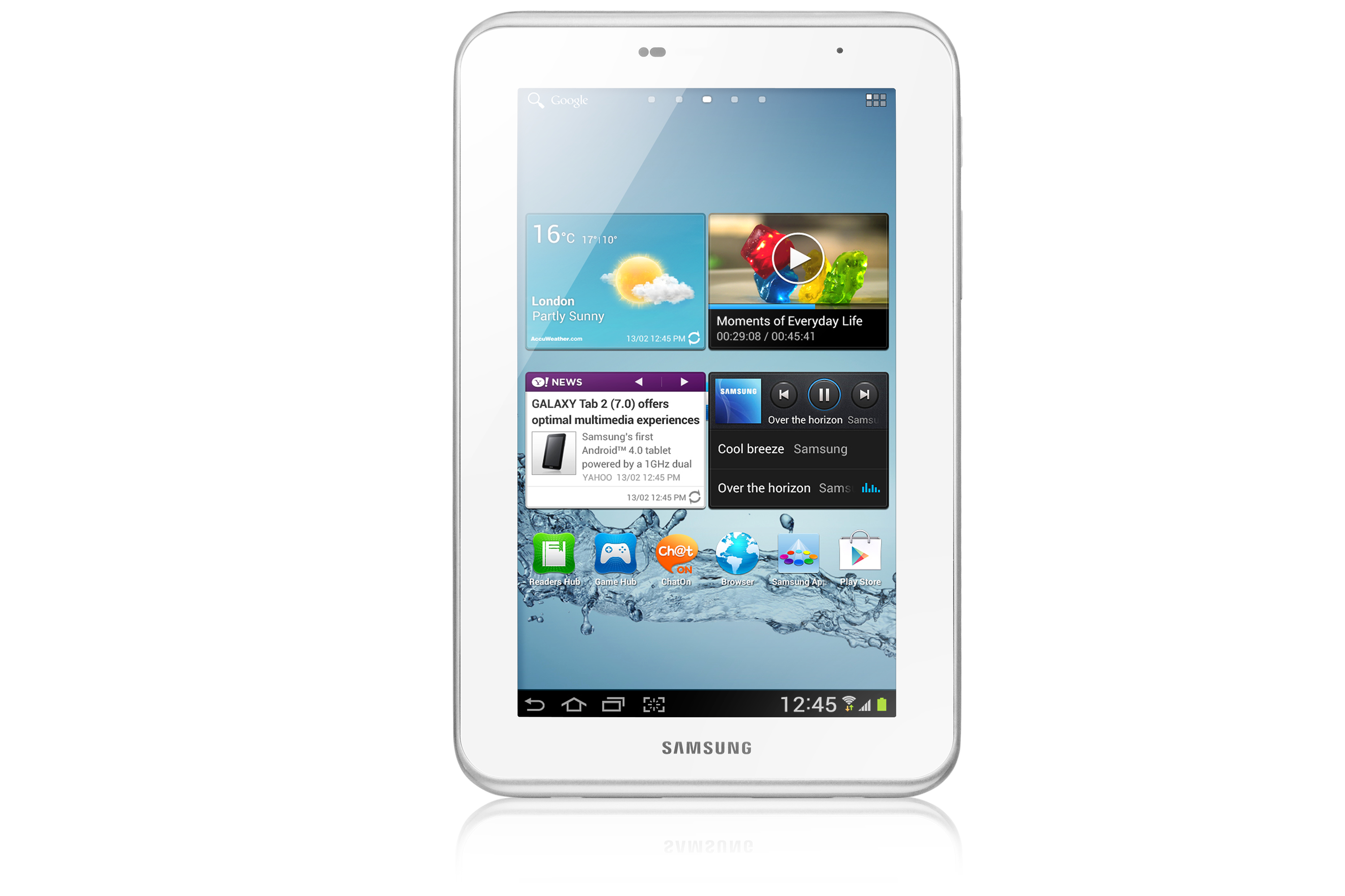 samsung gt p3110 galaxy tab 2 7 tablet 8gb white refurbished grade b. Black Bedroom Furniture Sets. Home Design Ideas