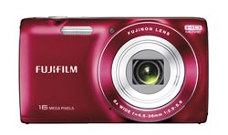 FUJIFILM JZ250 Compact Digital Camera - 16 Megapixels - Red - New Enlarged Preview