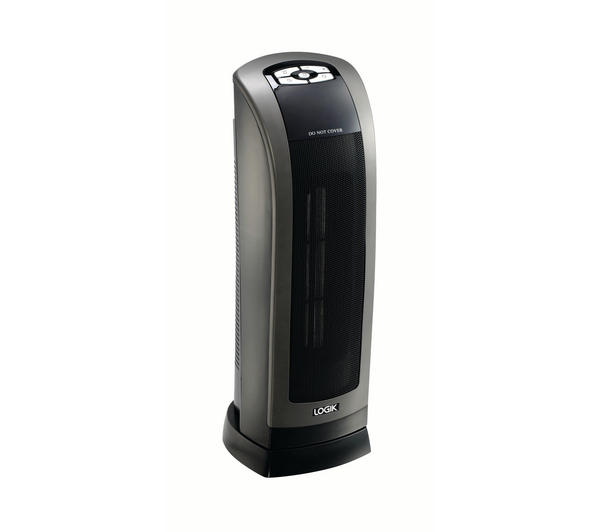 logik l18cthb12 ceramic fan heater black unsealed box damage ebay. Black Bedroom Furniture Sets. Home Design Ideas