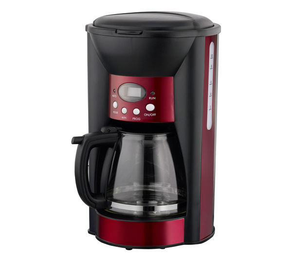 Coffee Maker Keeps Coffee Hot : LOGIK LC10DCR12 Coffee Maker Red with Digital display & Keep warm function eBay