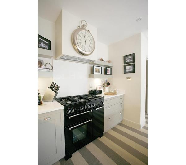 rangemaster kitchener 90 dual fuel range cooker black 5028683079989 ebay. Black Bedroom Furniture Sets. Home Design Ideas