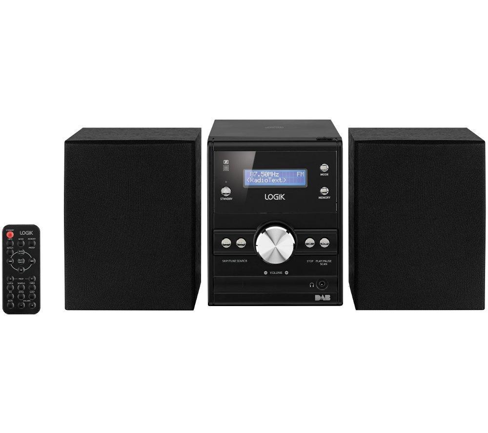 logik lhfdab14 traditional hi fi system 10 w cd player dab. Black Bedroom Furniture Sets. Home Design Ideas