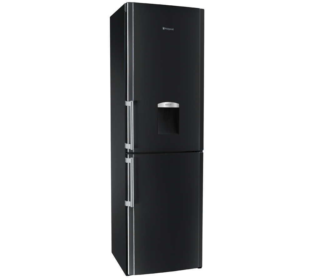 hotpoint fflaa58wdk fridge freezer a frost free black ebay. Black Bedroom Furniture Sets. Home Design Ideas