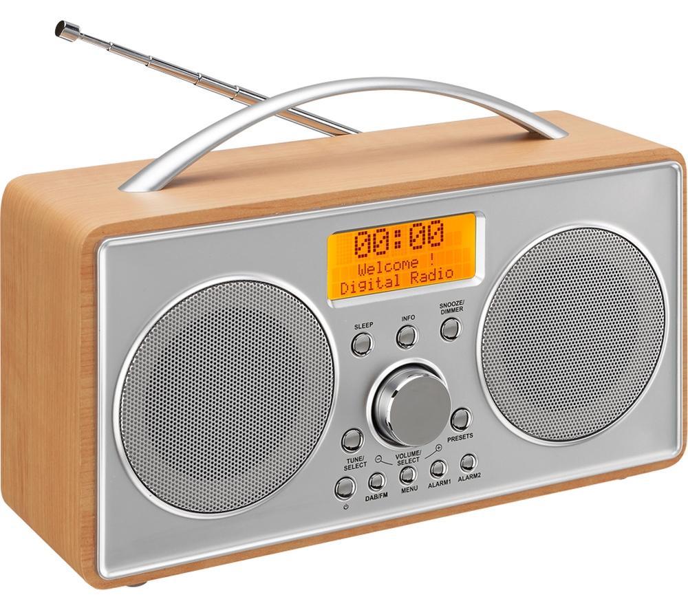 logik l55dab15 portable dab fm clock radio lcd display 20. Black Bedroom Furniture Sets. Home Design Ideas