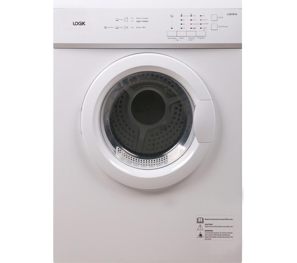 Bwe Tumble Dryer ~ Logik lvd w vented tumble dryer kg capacity sensor