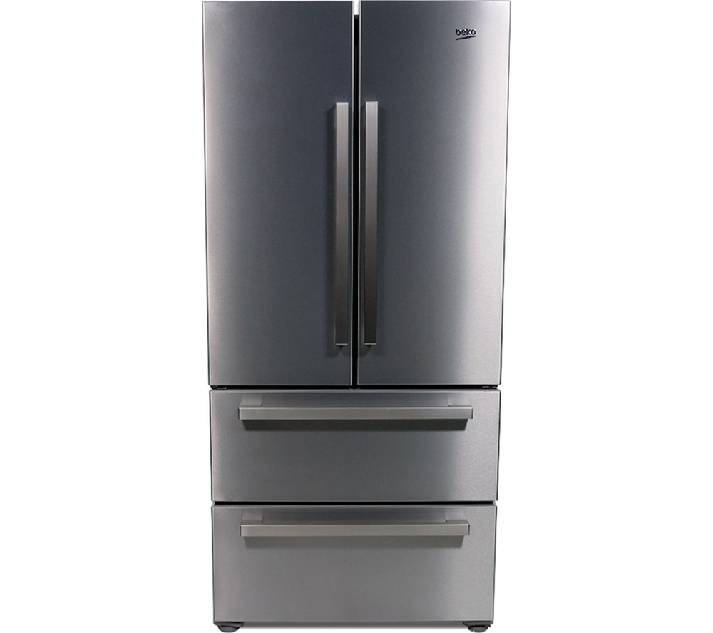 beko gne60520x american style fridge freezer 397l 152l. Black Bedroom Furniture Sets. Home Design Ideas