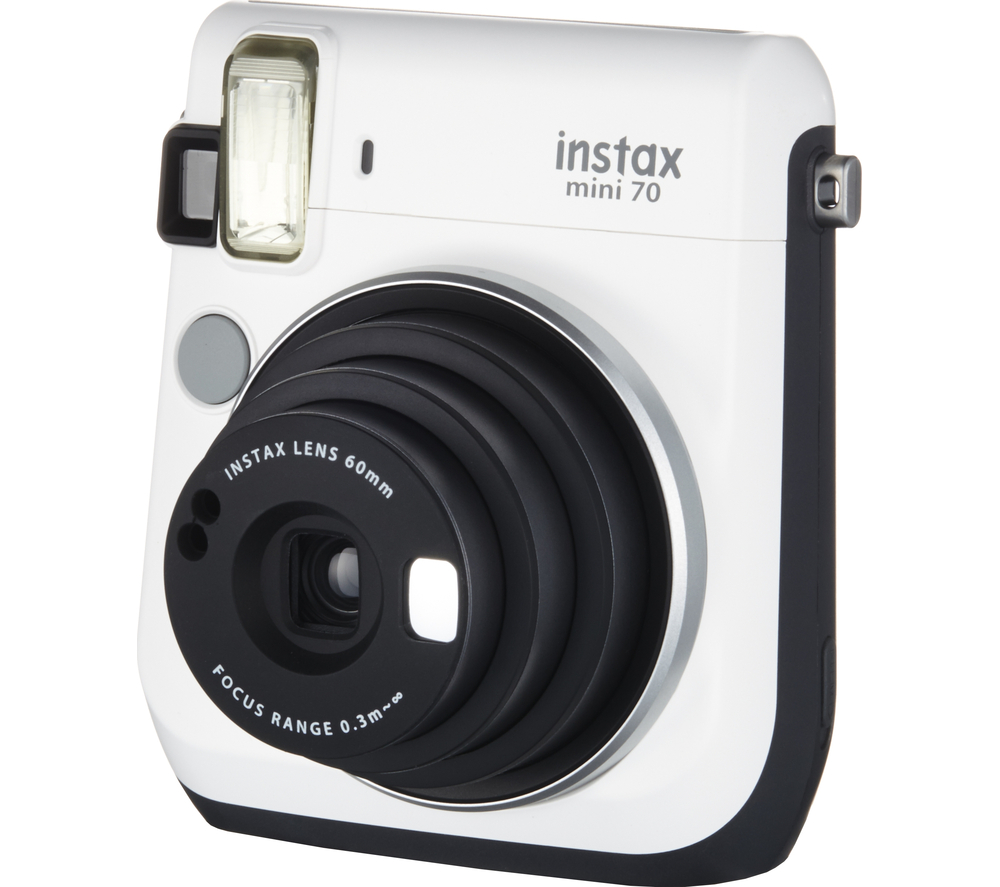 Fujifilm instax mini 70 white instant camera built in for Housse instax mini 70