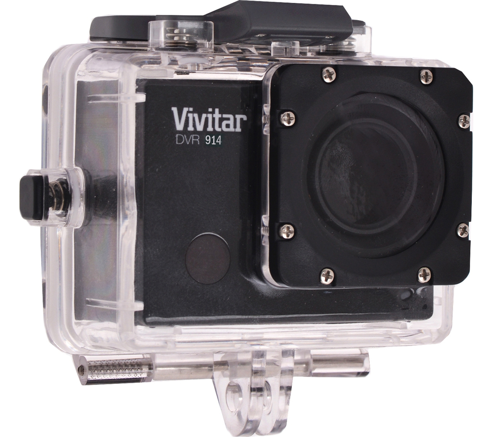 Camera Vivitar Action Cam vivitar dvr944 action camcorder black waterproof to 32 ft with included housing