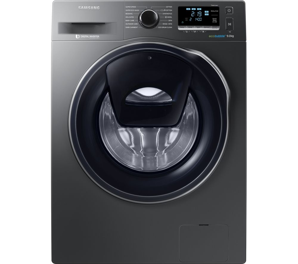 samsung addwash ww90k6414qx eu washing machine a 9 kg 1400 rpm graphite ebay. Black Bedroom Furniture Sets. Home Design Ideas