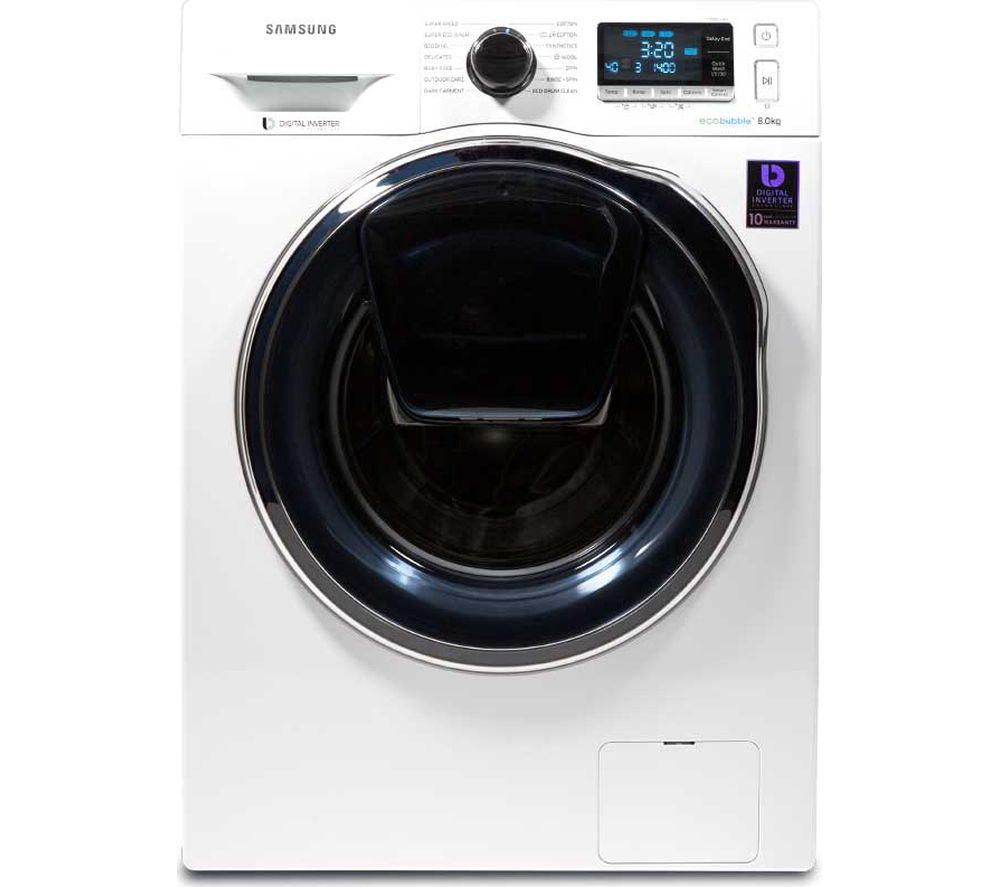 samsung addwash ww80k6414qw a 8 kg 1400 rpm washing machine white ebay. Black Bedroom Furniture Sets. Home Design Ideas