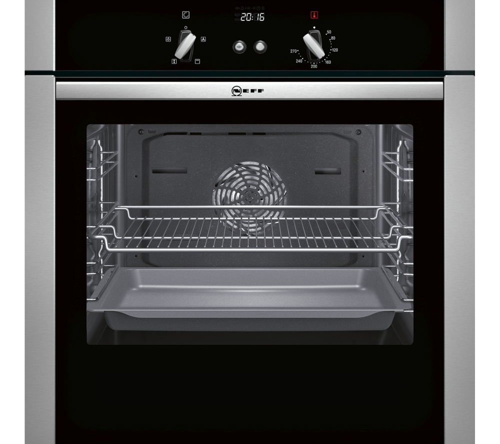 Neff b44s32n5gb slide hide electric fan oven stainless steel ebay - Neff single oven with grill ...