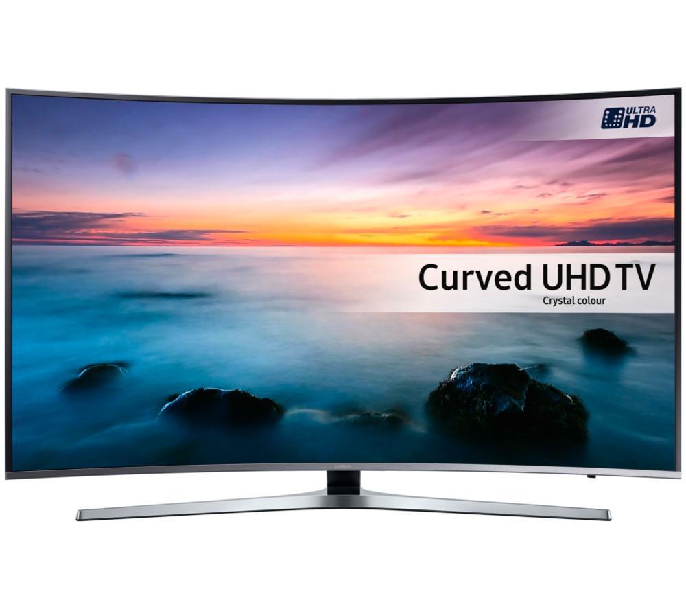 samsung ue49ku6670 smart 4k ultra hd hdr 49 curved tv silver ebay. Black Bedroom Furniture Sets. Home Design Ideas