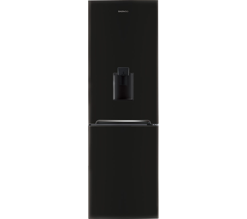 daewoo rn37db frost free fridge freezer with water dispenser black. Black Bedroom Furniture Sets. Home Design Ideas