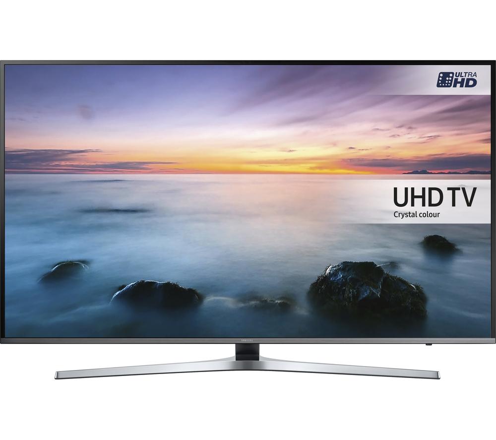 samsung ue55ku6470 smart 4k ultra hd hdr 55 led tv silver ebay. Black Bedroom Furniture Sets. Home Design Ideas