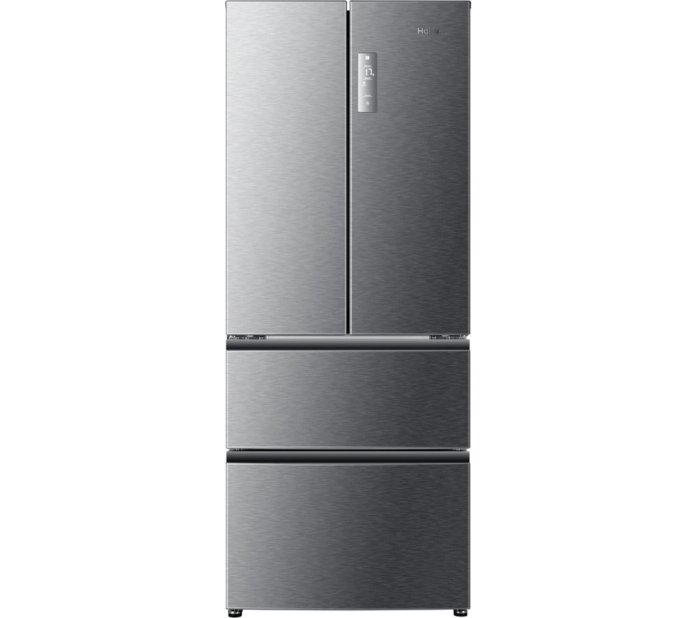 haier hb14fmaa frost free fridge freezer with fast freeze stainless steel ebay. Black Bedroom Furniture Sets. Home Design Ideas