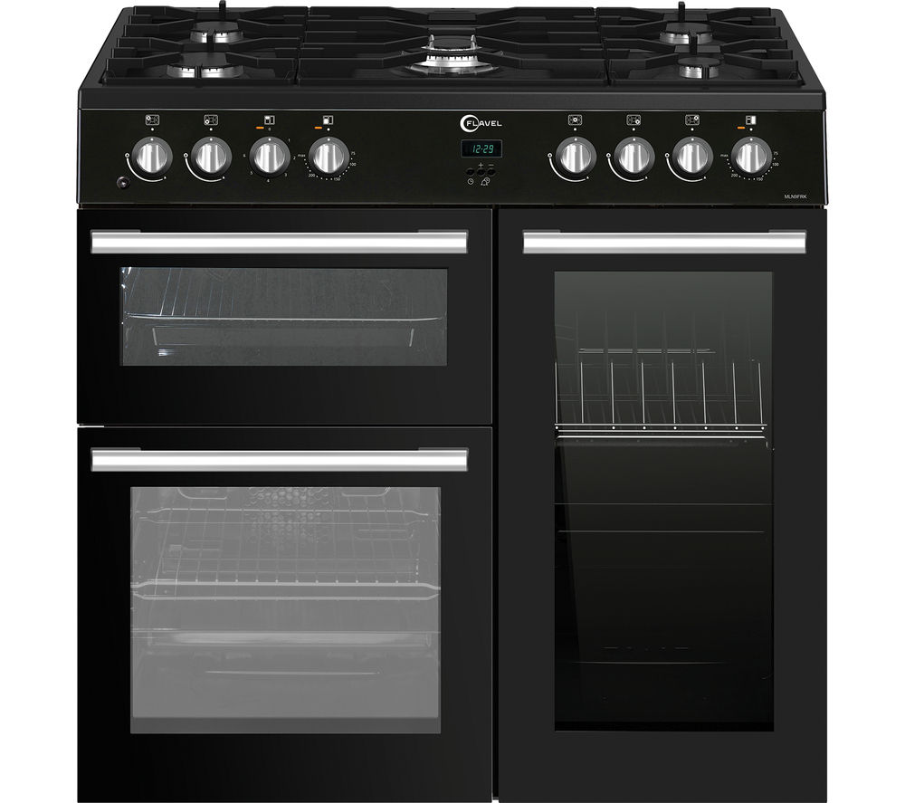 flavel mln9frk 90 cm 5 burner dual fuel range cooker with. Black Bedroom Furniture Sets. Home Design Ideas