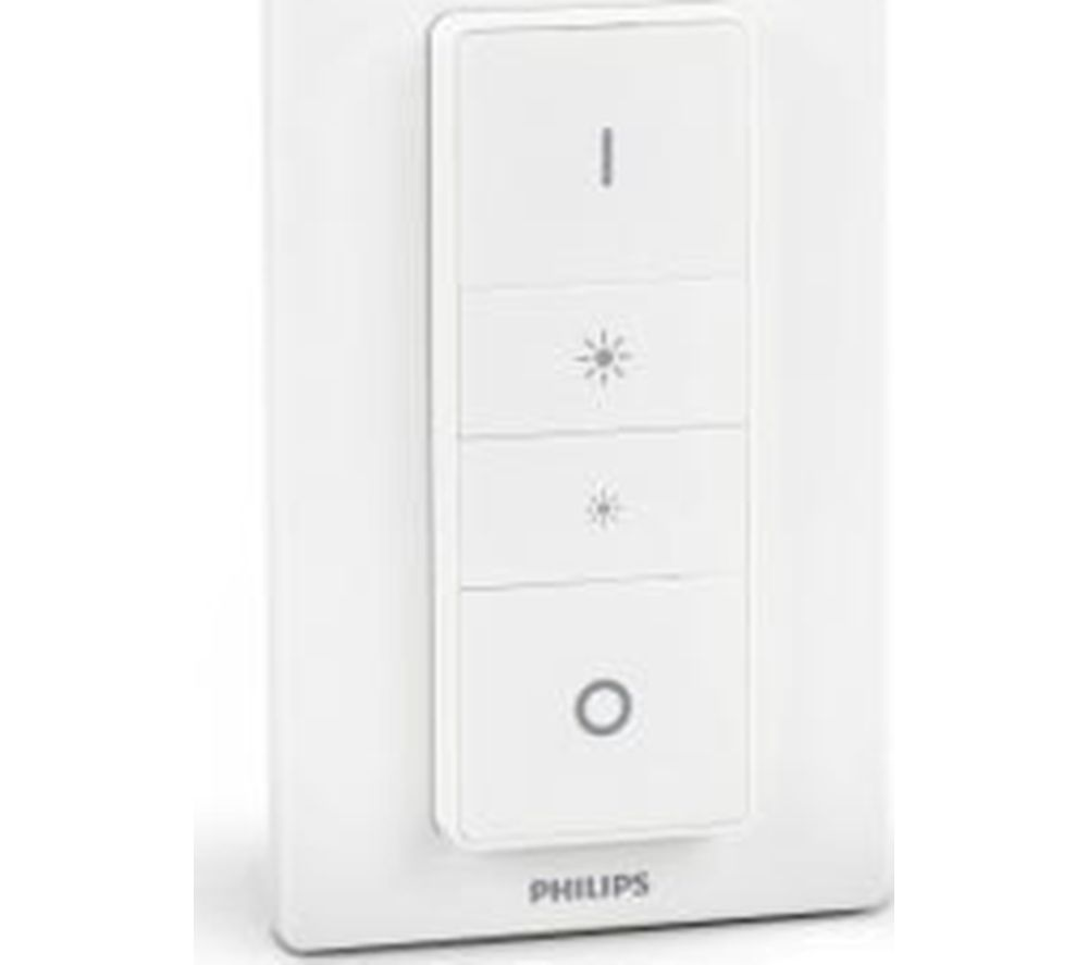 PHILIPS Hue Wireless Dimmer Switch iOS & &roid compatible Wall-mountable White