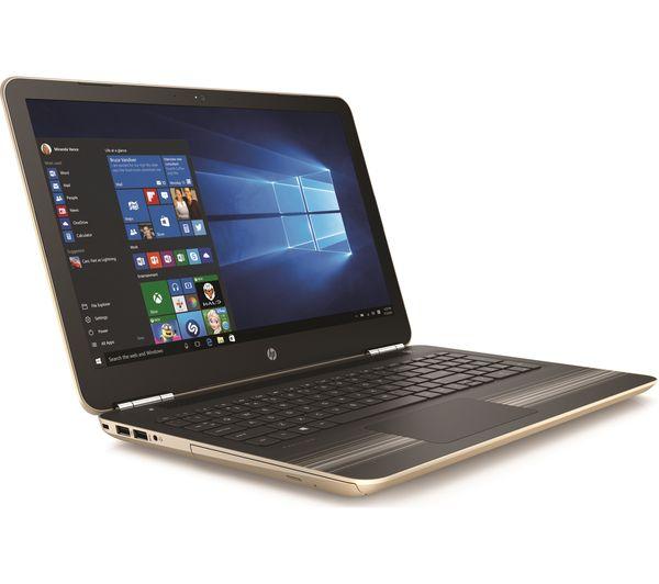 Hp pavilion 15 aw084sa 15 6 quot laptop modern gold 1tb hdd amd a9 9410