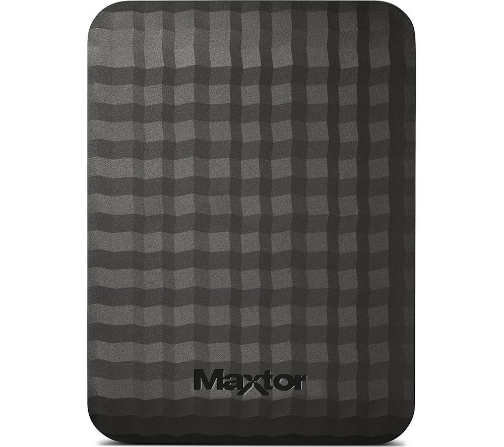 Seagate Maxtor M3 Portable External USB 3.0 Hard Drive Black