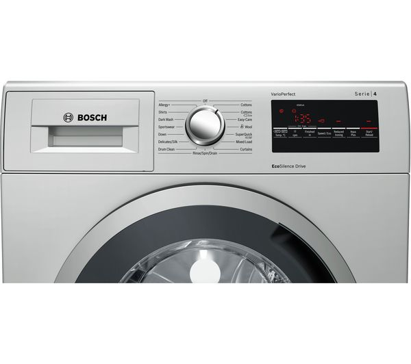 bosch serie 4 wan282x0gb 8 kg 1400 spin washing machine inox. Black Bedroom Furniture Sets. Home Design Ideas
