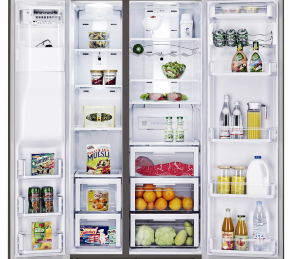 What Is An American Fridge Freezer Part - 44: SAMSUNG-RSG5UUMH-American-Style-Fridge-Freezer-A-frost-