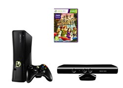 Microsoft Xbox 360 with Kinect Sensor & Kinect Adventures (Box damage) Enlarged Preview