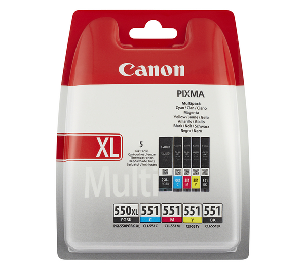 canon pgi 550xl cli 551 cyan magenta yellow black ink cartridges multipack ebay. Black Bedroom Furniture Sets. Home Design Ideas