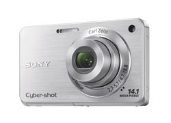 Sony Cyber-shot DSC-W560 Compact 14 Megapixels Digital Camera - Silver Enlarged Preview