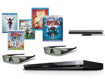 Sony BDPS470 3D Blu-ray Player - with 2 Pair of 3D Glasses & 5 3D Movies Enlarged Preview