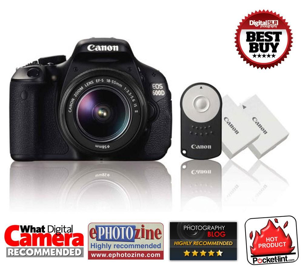 Canon EOS 600D Digital SLR Camera with 18-55mm Zoom Lens Enlarged Preview
