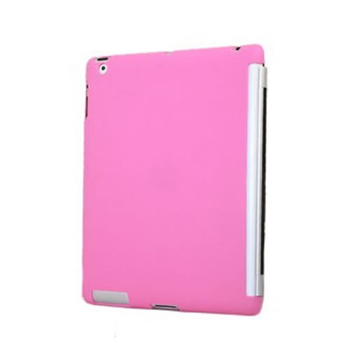 Apple iPad 2 Pink Silicone Skin, Smart Cover Compatible Enlarged Preview