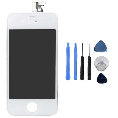 Replacement White LCD Screen and Digitizer For Apple iPhone 4S - Tools Included Enlarged Preview