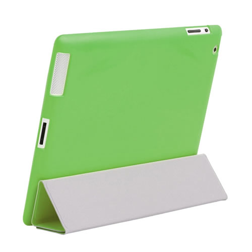 iPad 2 Green TPU Silicone Skin Protector, Smart Cover Compatible Enlarged Preview