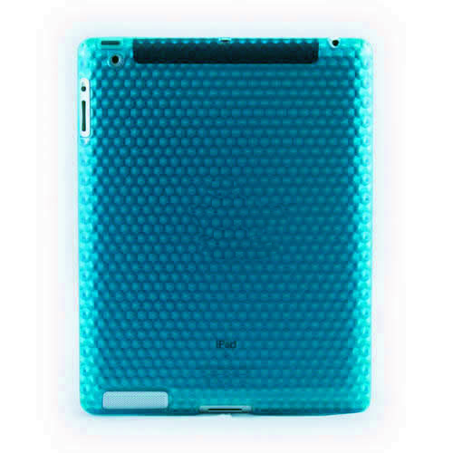 Light Blue Hydro Gel Smart Case for iPad 2 - Honeycomb Effect