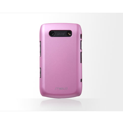 High Quality Shield iShell Slim Fit Luxury Case Cover For Blackberry 9700 - Pink Enlarged Preview