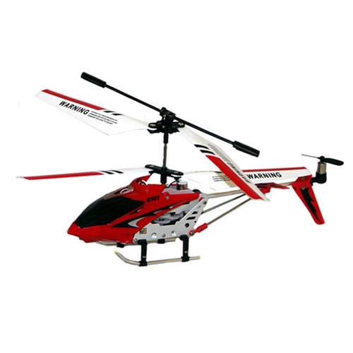 X107 3Ch Aluminium Rc Gyro Micro / Mini Remote Control Helicopter in Red Enlarged Preview